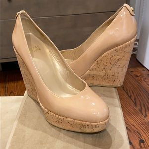 Stuart Weitzman York Cork Wedge Pump